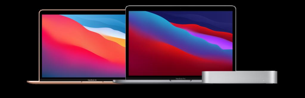 MacBook Air, MacBook Pro och Mac Mini