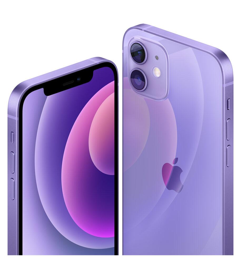 iPhone 12 och iPhone 12 mini i lila